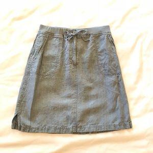 J. Jill   light denim linen skirt size 8